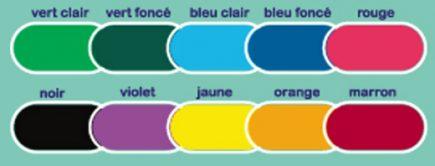 couleurs poubelles crayons