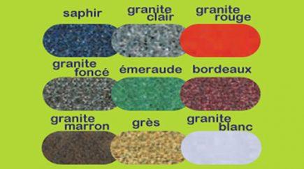 palette couleurs poubelles twist effet pierre