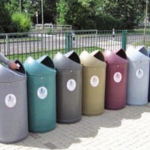 ensemble poubelle twist couleurs effet pierre