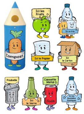 poubelles crayon barrierres et compagnie