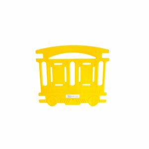 Wagon jaune Barriere Petit Train