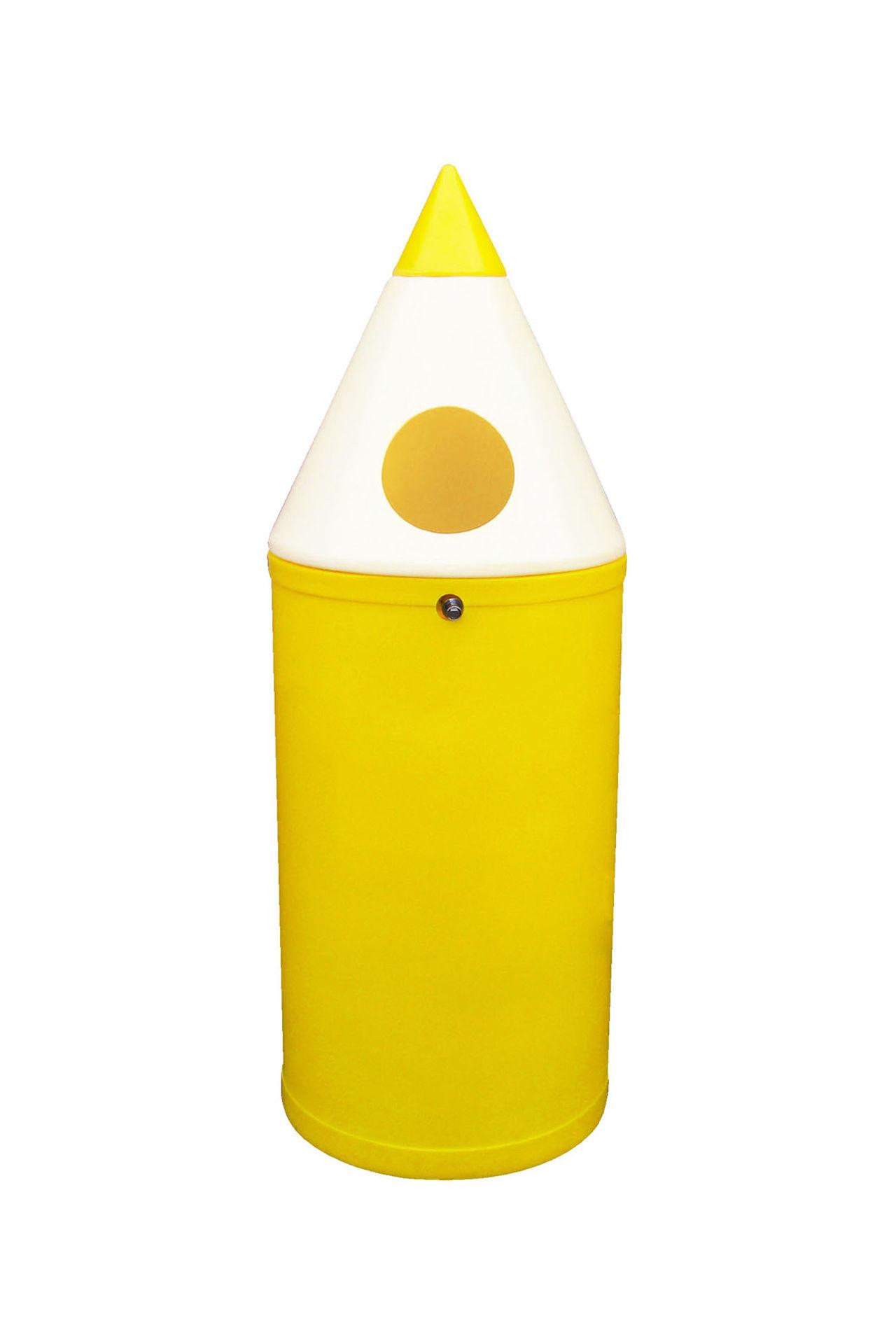 Poubelle crayon jaune